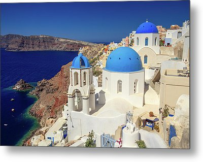 Blue Domed Churches Metal Print