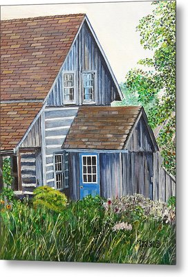 Blue Door Metal Print by Marilyn  McNish