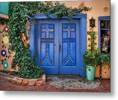 Blue Doors - Old Town - Albuquerque Metal Print