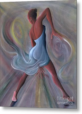 Blue Dress Metal Print by Ikahl Beckford