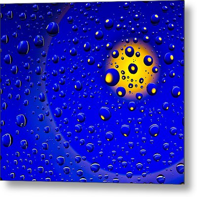 Metal Print featuring the photograph Blue Drops by Vladimir Kholostykh