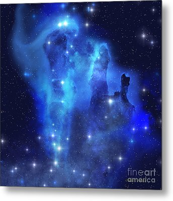 Blue Eagle Nebula Metal Print
