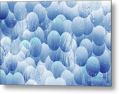 Metal Print featuring the photograph Blue Eggs - Abstract Background by Michal Boubin