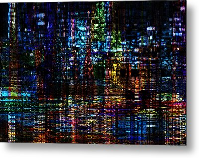 Blue Evening Metal Print