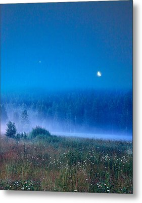 Metal Print featuring the photograph Blue Evening by Vladimir Kholostykh