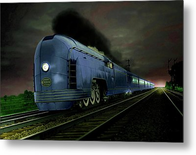 Blue Express Metal Print by Steven Agius