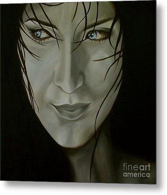 Blue-eyed Girl Metal Print by Jindra Noewi