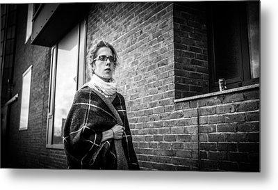 Blue Eyes - Dublin, Ireland - Black And White Street Photography Metal Print