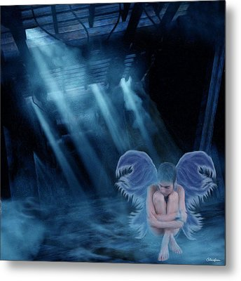 Blue Fairy Metal Print by Maggie  Smith