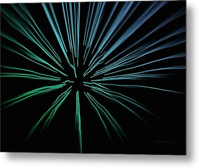 Metal Print featuring the photograph Blue Firework by Chris Berry
