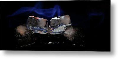 Metal Print featuring the photograph Blue Flames And Ice by Rico Besserdich