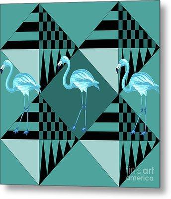 Blue Flamingo Metal Print by Mark Ashkenazi