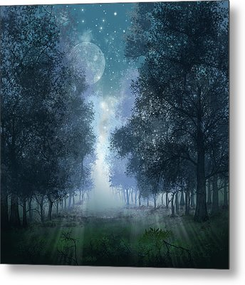 Blue Forest 2 Metal Print