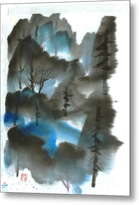 Blue Forest Metal Print by Mui-Joo Wee