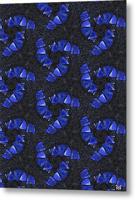 Blue Glass  Metal Print by Maria Watt