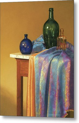 Blue Green And Gold Metal Print by Barbara Groff