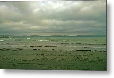 Blue Green Grey Metal Print