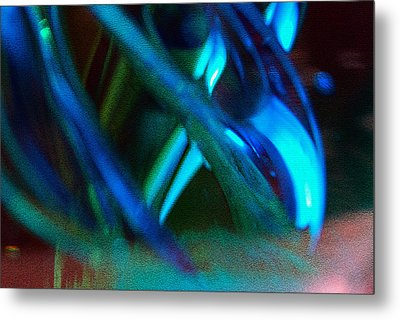 Blue Green Texture Metal Print by Don  Wright