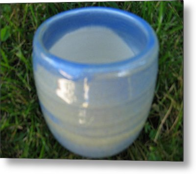 Blue Green Vessel Metal Print by Julia Van Dine