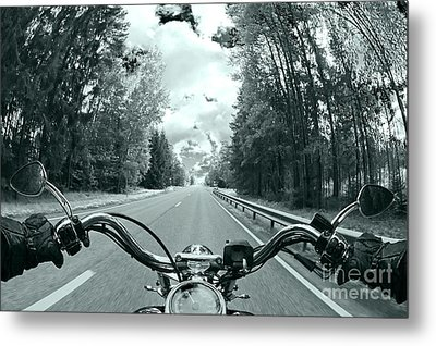 Blue Harley Metal Print by Micah May