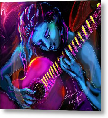 Blue Heart Metal Print by DC Langer