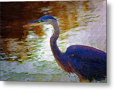 Metal Print featuring the photograph Blue Heron 2 by Donna Bentley
