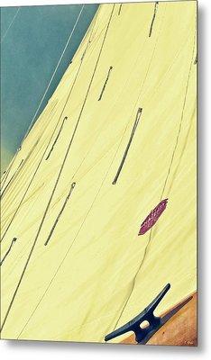 Blue Horizon Tinted Sail Metal Print