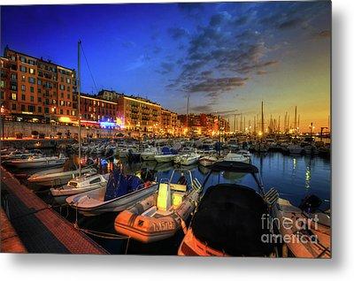 Blue Hour At Port Nice 1.0 Metal Print by Yhun Suarez