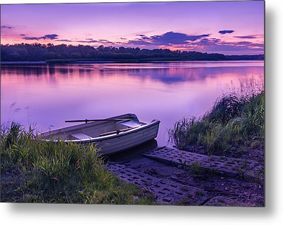 Blue Hour On The Vistula River Metal Print