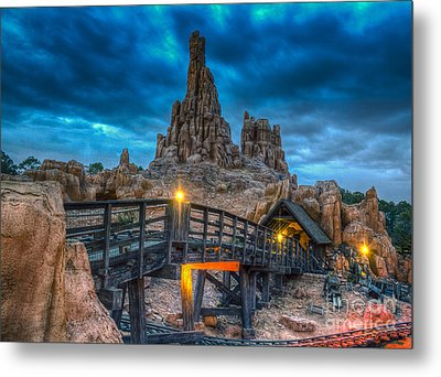 Blue Hour Over Big Thunder Mountain Metal Print
