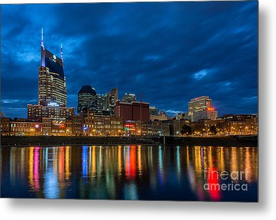 Blue Hour Reflections Metal Print