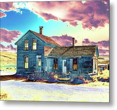 Metal Print featuring the photograph Blue House by Jim and Emily Bush