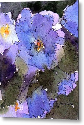 Blue Hyacinth Metal Print by Anne Duke