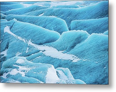 Metal Print featuring the photograph Blue Ice Svinafellsjokull Glacier Iceland by Matthias Hauser