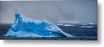 Blue Iceberg - Antarctica Iceberg Photograph Metal Print