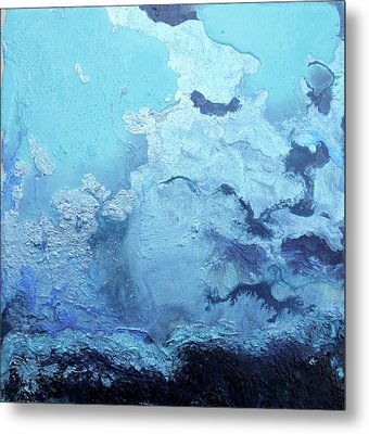 Blue Is  Taking Over The World Metal Print