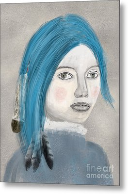 Metal Print featuring the painting Blue Jasmine by Bri B