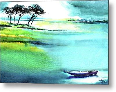 Blue Lagoon Metal Print by Anil Nene