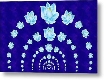 Blue Lotus Tunnel Metal Print