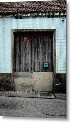 Metal Print featuring the photograph Blue Mailbox by Marco Oliveira