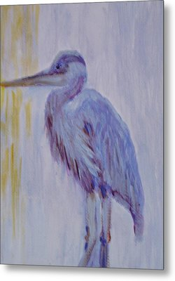 Metal Print featuring the painting Blue  by Marie Hamby