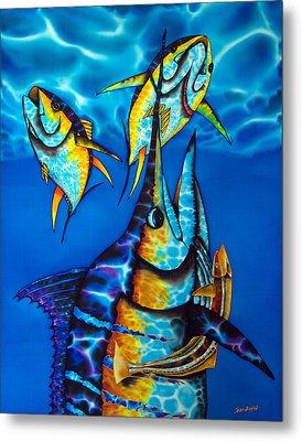 Blue Marlin Metal Print by Daniel Jean-Baptiste