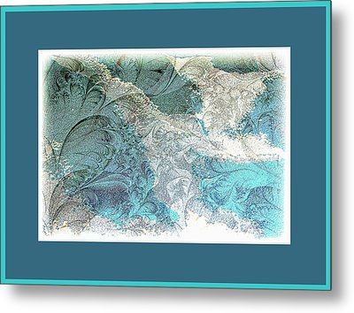 Metal Print featuring the photograph Blue Maze by Athala Carole Bruckner