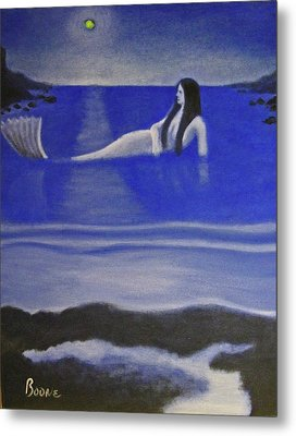 Blue Mermaid Metal Print by Chris Boone
