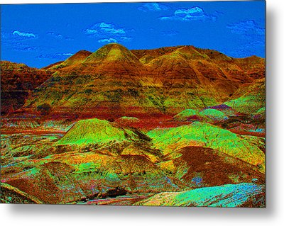 Blue Mesa Dreaming Metal Print