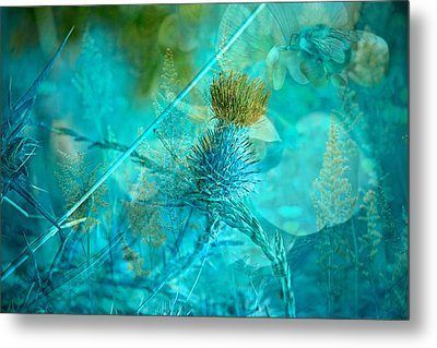Blue Montage Metal Print by Bonnie Bruno