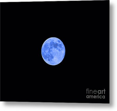 Blue Moon Metal Print by Al Powell Photography USA
