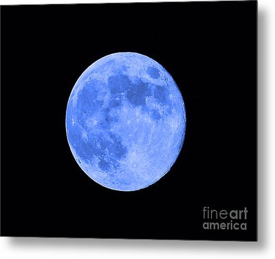 Blue Moon Close Up Metal Print by Al Powell Photography USA