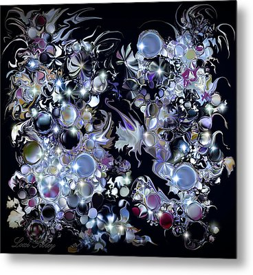 Metal Print featuring the digital art Blue Moon by Loxi Sibley