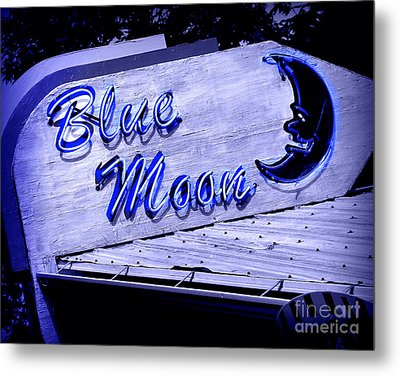 Blue Moon Metal Print by Perry Webster